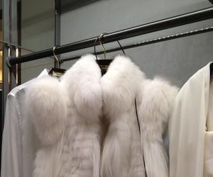 fashion, white, and fur image