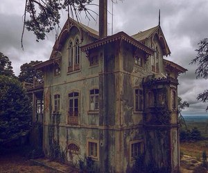 nature, abandoned buildings, and green photos image