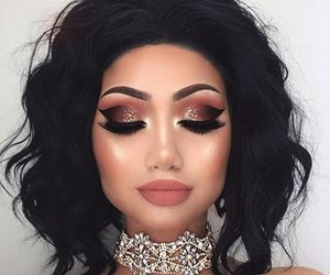 black hair, jewelry, and selfie image