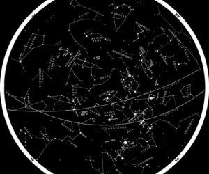 zodiac, constellation, and stars image