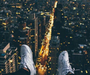 city, light, and shoes image