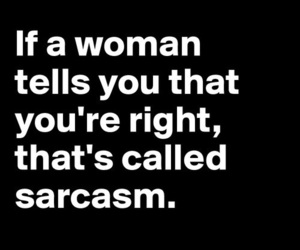 sarcasm, funny, and woman image
