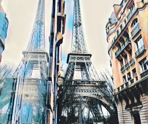 eiffiel tower, smile you are beautiful, and my edits image