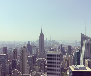 big apple, empire state building, and happy image