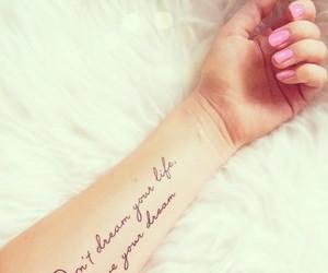 fashion, pink, and tattoo image