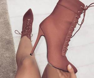 heels, lace up boots, and granny boots image