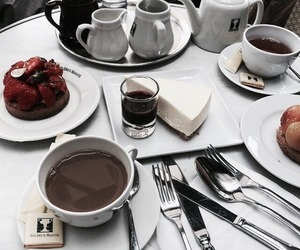 breakfast, coffee, and cake image
