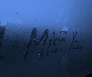 miss, rain, and blue image