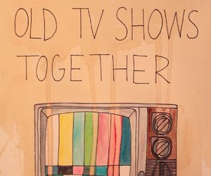 tv, quote, and old image