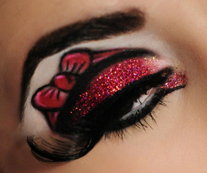 eye, make up, and red image