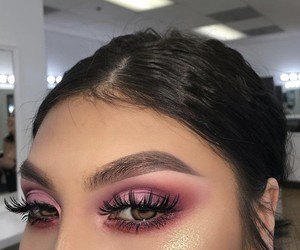 eyebrow, eyes, and pink image