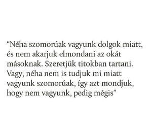 magyar, szöveg, and szomorú image