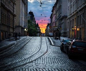 helsinki, finland, and sunset image