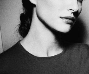 natalie portman, woman, and black and white image