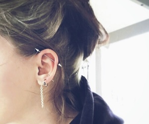 body modification, earring, and helix image