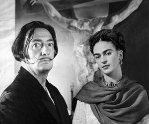 salvador dali, frida kahlo, and art image