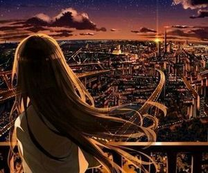 anime, anime girl, and city image