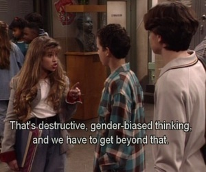 boy meets world, feminism, and tumblr image