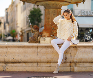cannes, fashion blogger, and fall outfit image