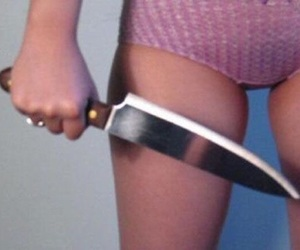 body, knife, and girl image