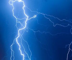 blue and lightning image