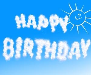 birthday, sky, and b-day image