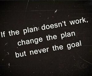 quotes, goals, and plan image