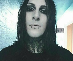 handsome, chris motionless, and ghotic image