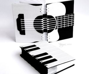 black and white and music image