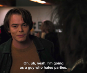 stranger things, quotes, and party image