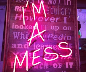 neon, neon lights, and pink image