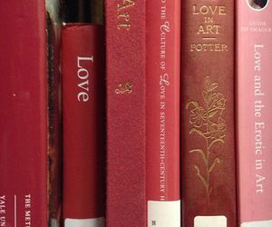 book, red, and love image