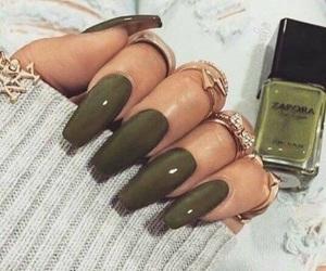 green, nails, and bailey image