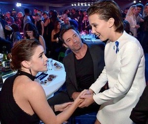 emma watson, millie bobby brown, and eleven image