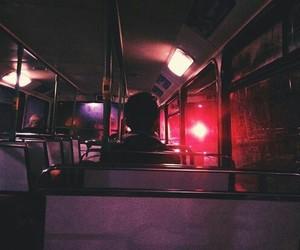 bus, night, and grunge image