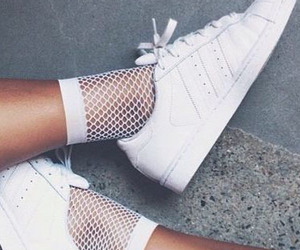 white, shoes, and adidas image