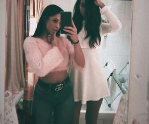 brunette, fashion, and girls image