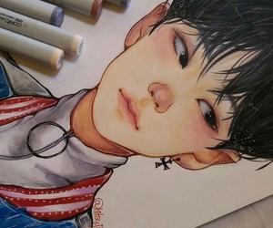 draw, drawing, and fanart image