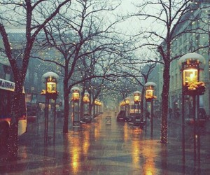 rain, winter, and city image