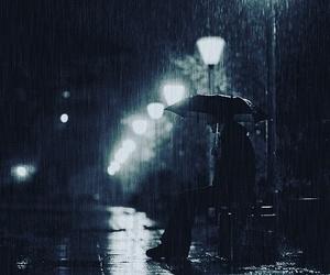 rain, alone, and night image
