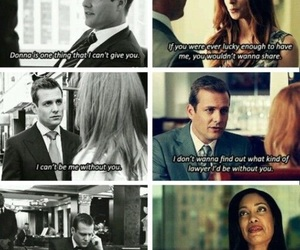 always, harvey and donna, and suits image