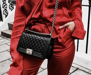 chanel, red, and chanel bag image