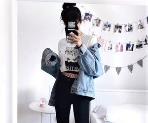 jeans, black, and clothes image