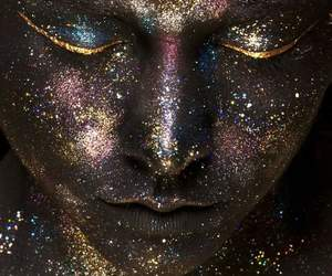 glitter, face, and make up image