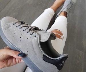 shoes, adidas, and grey image