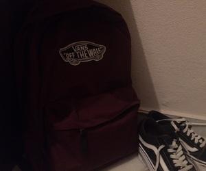 backpack, black, and dark red image