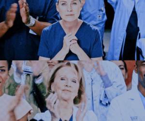 ellen pompeo, meredith grey, and mother image