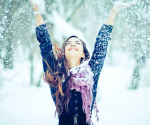 brunet, cold, and snow image
