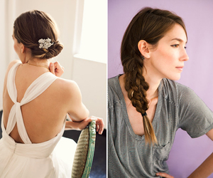 braid, hair, and messy image