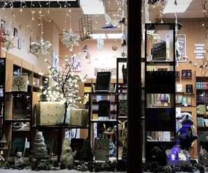 bookstore, winter, and instagram image